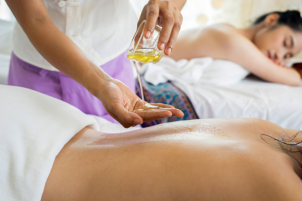 massage therapy with oils